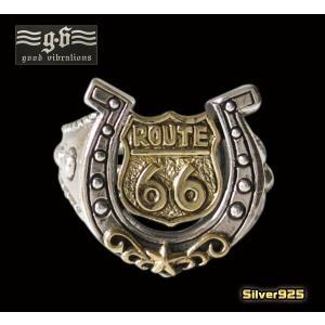 (GV)ルート66ホースシューリング(1)フリーサイズ (メイン) 蹄鉄 馬蹄指輪  シルバー925 銀|0001pppcom