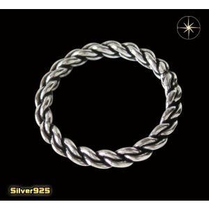 デザインリング(46)11号・13号・15号・17号・19号・21号・23号・25号/(メイン)編み込み・シンプルな指輪・シルバー925銀|0001pppcom