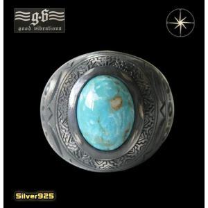 good vibrations(GV)ネイティブリング(2)ターコイズ メイン ネイティブ 天然石 指輪 リング シルバー925製 銀|0001pppcom