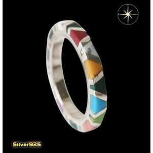 カラフルストーンリング(1)02号〜 メイン 天然石 指輪 リング シルバー925製 銀|0001pppcom