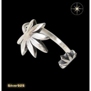 マリファナピンキーリング(1)03号・07号・09号・11号・13号フリーサイズ/(メイン)マリファナ・レゲエ・音楽・指輪・リング・シルバー925製・銀|0001pppcom