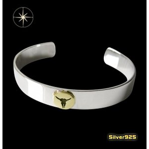 ネイティブバングル(23)SV+B/(メイン)・ネイティブ・バングル・シルバー925製・銀|0001pppcom