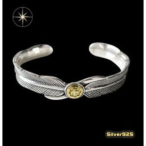 ネイティブフェザーバングル(3)SV+B/(メイン)羽根・フェザー・バングル・シルバー925製・銀|0001pppcom
