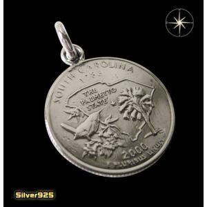 本物のアメリカのコインペンダント(4)サウスカロライナ州/(メイン)コイン・硬貨・ペンダント・ネックレス|0001pppcom
