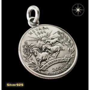 本物のアメリカのコインペンダント(4)ネバダ州/(メイン)コイン・硬貨・ペンダント・ネックレス|0001pppcom