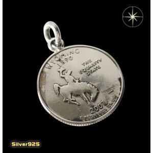 本物のアメリカのコインペンダント(4)ワイオミング州/(メイン)コイン・硬貨・ペンダント・ネックレス|0001pppcom