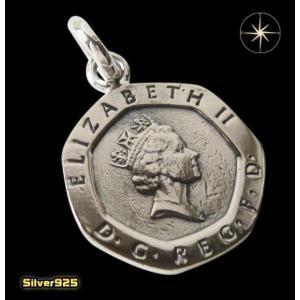 本物のイギリスのコインペンダント(6) メイン ヨーロッパ コイン 硬貨 ペンダント ネックレス|0001pppcom