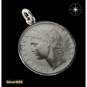 本物のイタリアのコインペンダント(1) メイン ヨーロッパ コイン 硬貨 ペンダント ネックレス|0001pppcom