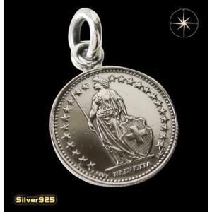 本物のスイスのコインペンダント(4) メイン ヨーロッパ コイン 硬貨 ペンダント ネックレス|0001pppcom