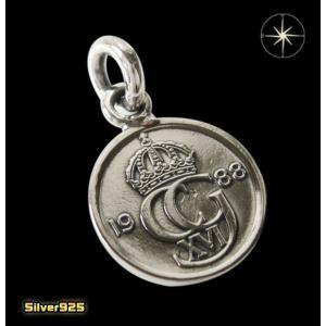 本物のスウェーデンのコインペンダント(1)/(メイン)ヨーロッパ・コイン・硬貨・ペンダント・ネックレス|0001pppcom