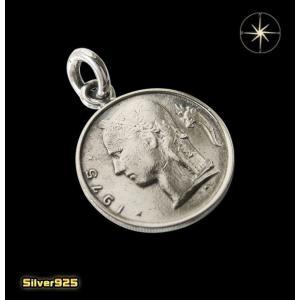 本物のベルギーのコインペンダント(3)/(メイン)ヨーロッパ・コイン・硬貨・ペンダント・ネックレス|0001pppcom