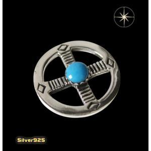 (パーツ)メディスンホイール(7)ターコイズ (メイン) ネイティブ 天然石 パーツ シルバー925製 銀|0001pppcom