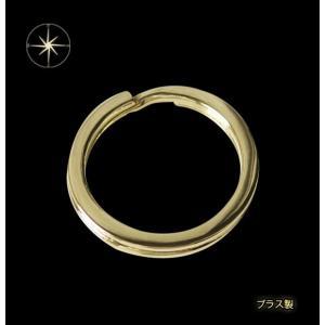 ブラス製キーリング(1)直径3.2cm/(メイン)キーチェーン・キーリング・真鍮製・ブラス・金色|0001pppcom