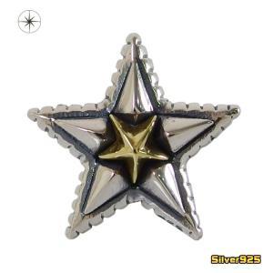 スターピアス(13)SV+B片耳売り (メイン) 星 半立体 スターピアス シルバー925製銀|0001pppcom
