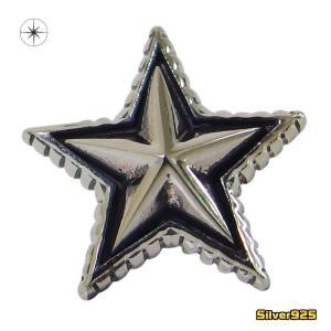 スターピアス(14)片耳売り/【メイン】 星・半立体・スターピアス・シルバー925製銀|0001pppcom
