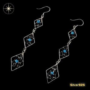 ドリームキャッチャーのピアス(6)2個セット/(メイン)・両耳売り・シルバー925銀・ピアス・イヤリング・ターコイズ・天然石|0001pppcom