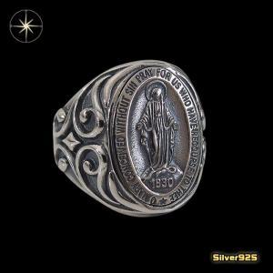 マリアリング(7)15号フリーサイズ/(メイン)・シルバー925銀・指輪・聖母マリア・|0001pppcom