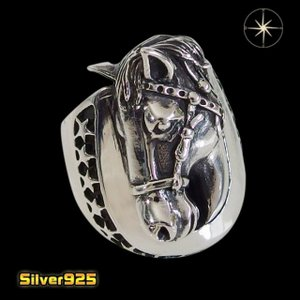 ビッグホースシューリング(1)17号18号19号20号21号22号23号24号25号/(メイン)シルバー925銀メンズ指輪・リング馬蹄・ホースシュー|0001pppcom