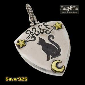 good vibrations【GV】星と月とネコのピックケースペンダント(1)/【メイン】シルバー925銀レディースメンズペンダントトップ|0001pppcom
