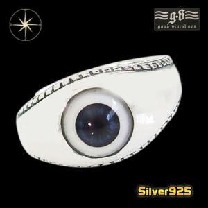 good vibrations【GV】義眼リング(2)13号フリーサイズ/【メイン】 ドールアイ 指輪 メンズ   シルバー925銀 goodvibrations|0001pppcom