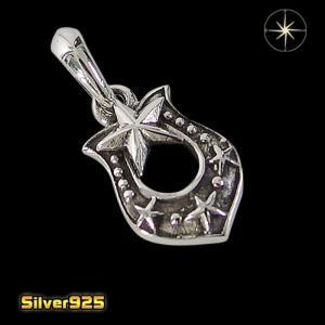 スモールホースシュー(6)/【メイン】 馬蹄 蹄鉄 スター 星 ペンダント・ネックレス シルバー925銀 レディース メンズ|0001pppcom
