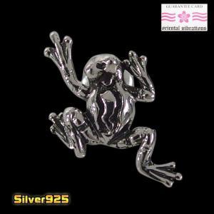 oriental vibrations【OV】カエルのピアス(1)/【メイン】 蛙 和柄   ピアス シルバー925銀 orientalvibrations レディース メンズ 0001pppcom