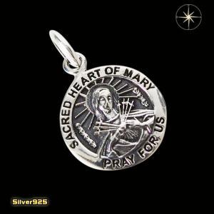 マリアコイン(7)/【メイン】シルバー925銀ペンダントネックレス聖母マリアメダイ|0001pppcom