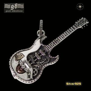 good vibrations(GV)ギターペンダント(1)(メイン)シルバー925製 銀 楽器ミュージックエレキギター音楽メンズ レディースgood vibrations|0001pppcom