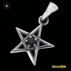 スターペンダント(15)BCZ(メイン)シルバー925製/銀/スター星流星メンズ・レディース|0001pppcom