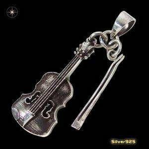 バイオリンのペンダント(1)(メイン)シルバー925製/銀/メンズ・レディース|0001pppcom
