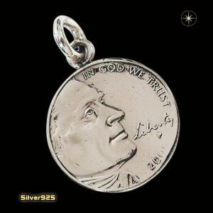 本物のアメリカのコインペンダント(5)(メイン)シルバー925製/銀/硬貨メンズ・レディース|0001pppcom