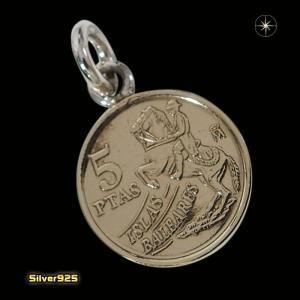 本物のスペインのコインペンダント(2)(メイン)シルバー925製/銀/硬貨メンズ・レディース|0001pppcom