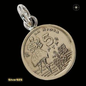 本物のスペインのコインペンダント(3)(メイン)シルバー925製/銀/硬貨メンズ・レディース|0001pppcom