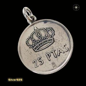 本物のスペインのコインペンダント(4)(メイン)シルバー925製/銀/硬貨メンズ・レディース|0001pppcom