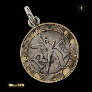 本物のフランスのコインペンダント(3)(メイン)シルバー925製/銀/硬貨メンズ・レディース|0001pppcom