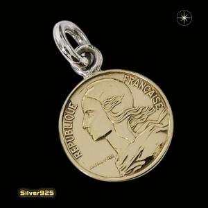 本物のフランスのコインペンダント(4)(メイン)シルバー925製/銀/硬貨メンズ・レディース|0001pppcom