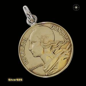 本物のフランスのコインペンダント(6)(メイン)シルバー925製/銀/硬貨メンズ・レディース|0001pppcom