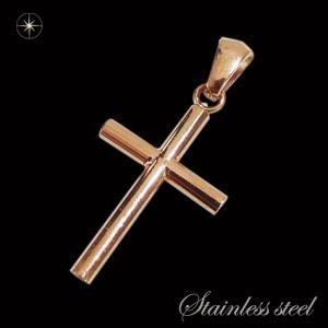ステンレスペンダント・クロス(13)ピンクゴールド(メイン)サージカルステンレス316L/クロス十字架キリストメンズ・レディース|0001pppcom