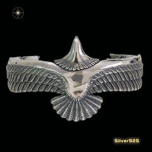 ネイティブイーグルのバングル(2)(メイン)シルバー925製/銀/メンズ・レディース|0001pppcom