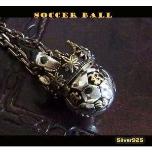 【RV】サッカーボールのペンダント(1)SV+B/レゲエ・ラスタネックレス(メイン)|0001pppcom