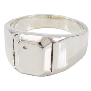 (GV)印台リング(1)ダイヤモンド17号から3号 シルバー925 銀 メンズ  アクセサリー シンプル 天然ダイヤモンド   指輪 リング|0001pppcom
