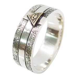 (GV)プロビデンスの目の指輪(10)SV+B13号から21号 シルバー925 銀 メンズ レディース  アクセサリー フリーメイソン    指輪 リング|0001pppcom