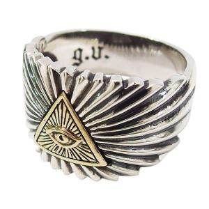 (GV)プロビデンスの目の指輪(8)SV+B17号から23号 シルバー925 銀 メンズ  アクセサリー フリーメイソン    指輪 リング|0001pppcom
