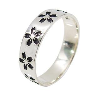 サクラの指輪(2)07号 13号 シルバー925 銀 メンズ レディース アクセサリー 桜 さくら 花 和風 指輪 リング|0001pppcom