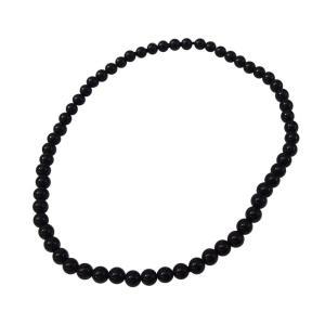 オニキス丸玉4mmブレスレット サイズ選択可14cm 16cm 18cm  ブレスレット 銀  天然石 オニキス   メンズ レディース|0001pppcom