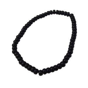 アゲート黒6mmブレスレット  サイズ選択可14cm 16cm 18cm ブレスレット 銀 送料無料 天然石 アゲート   メンズ レディース 0001pppcom