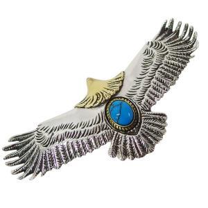 イーグルペンダント(3)ターコイズ イブシあり メイン シルバー925 銀 メンズ レディース トルコ石 天然石 鳥 ネイティブジュエリー 0001pppcom