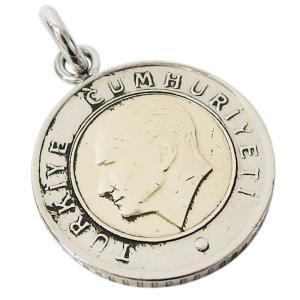 本物のトルコのコインペンダント(1) (メイン) メンズ レディース ネックレス 硬貨 アラビア|0001pppcom