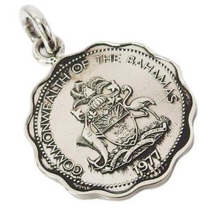 本物のバハマのコインペンダント(3) メイン メンズ レディース ネックレス 硬貨 南米|0001pppcom