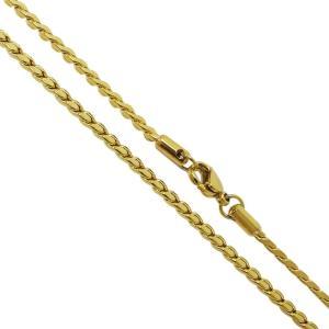 ステンレスネックレス デザインチェーン(23)金色50cm メイン サージカルステンレス316L メンズ レディース ゴールドコーティング|0001pppcom